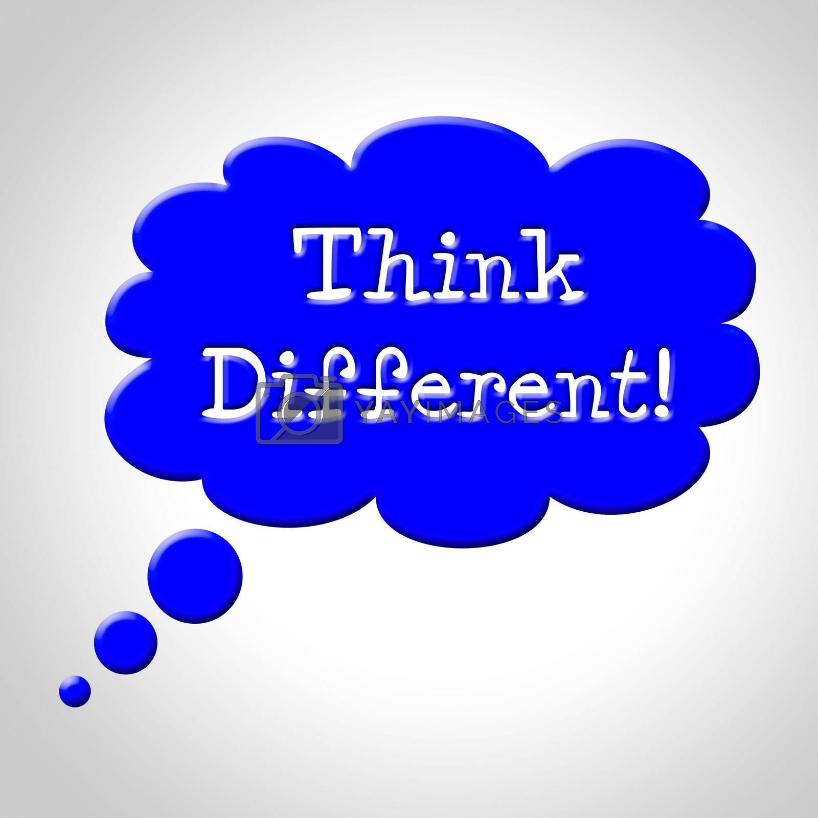 Think Different Bubble Represents Change Now And Revise by stuartmiles