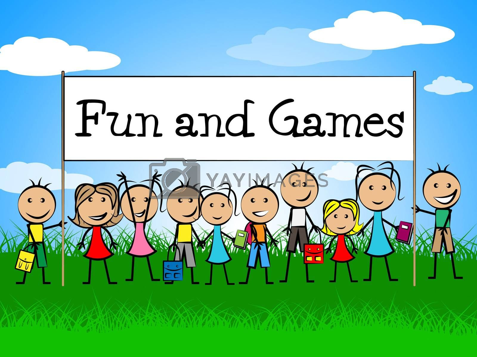 Fun And Games Indicates Gamer Recreational And Recreation by stuartmiles