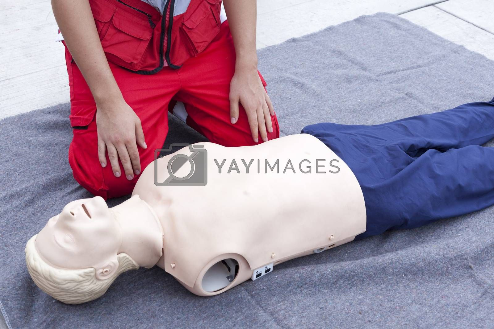 First aid training detail  by wellphoto