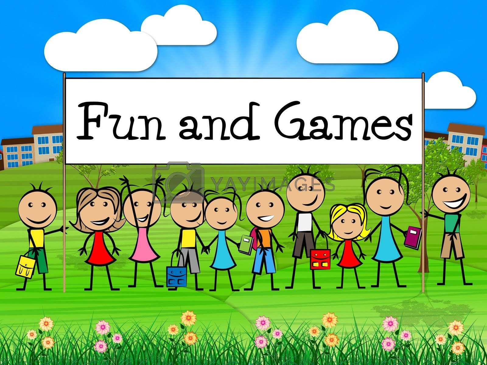Fun And Games Means Leisure Gaming And Kid by stuartmiles
