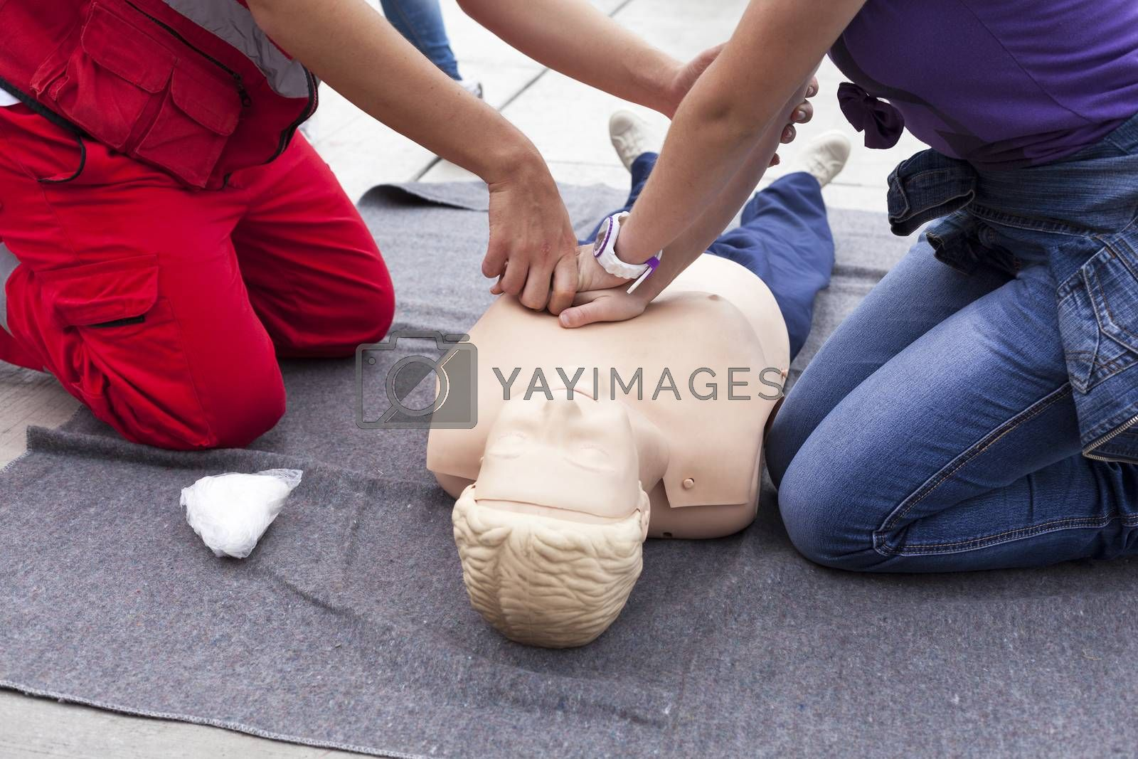 First aid training by wellphoto