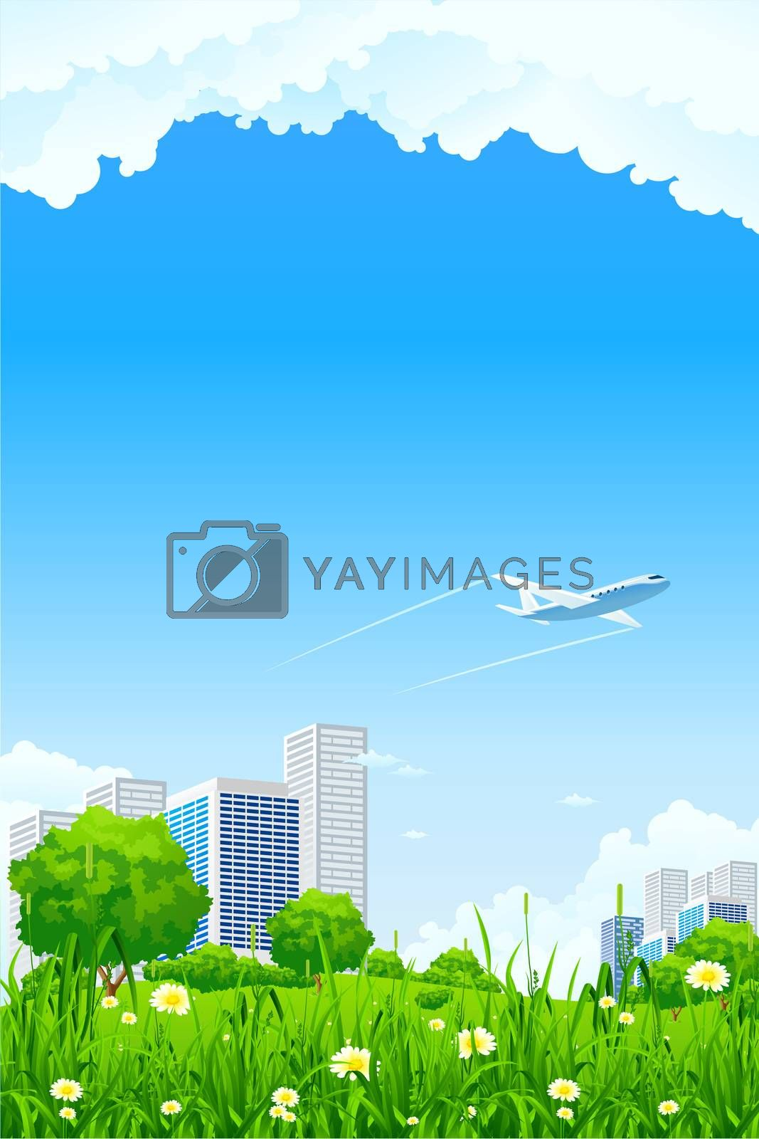 Green city background by WaD