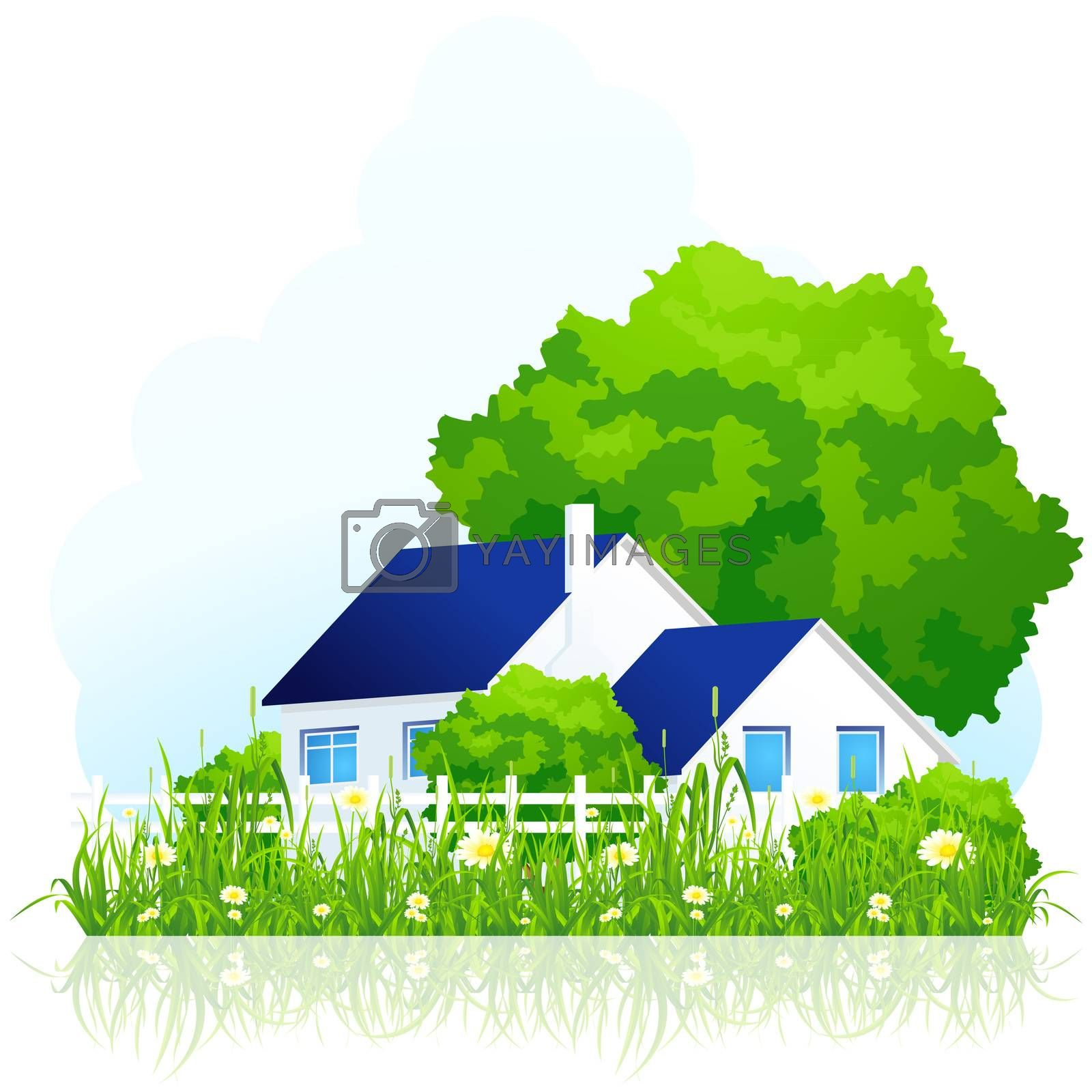 ��ountry house in grass by WaD