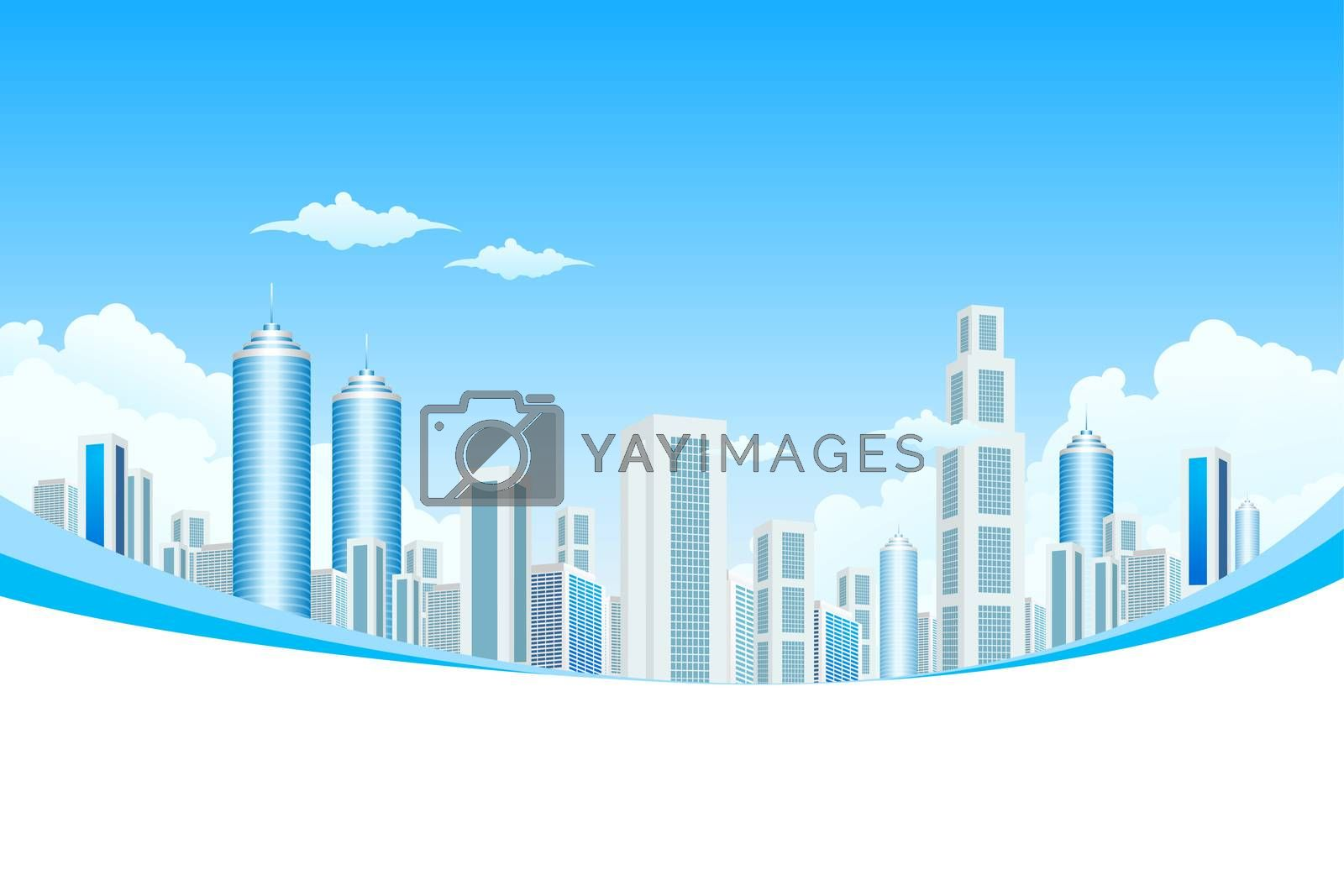 New Modern City in Clouds by WaD