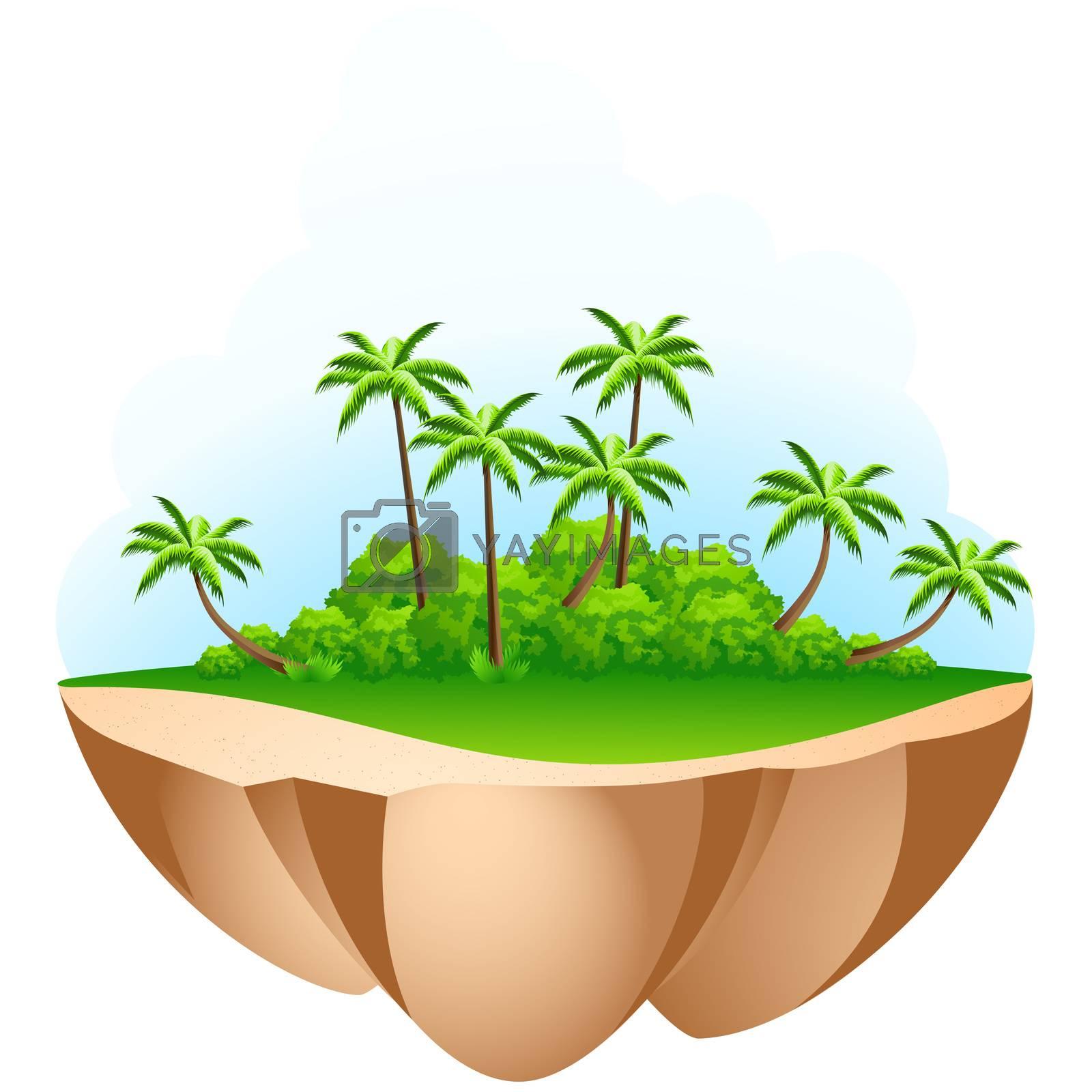 Green Palm tree Island by WaD