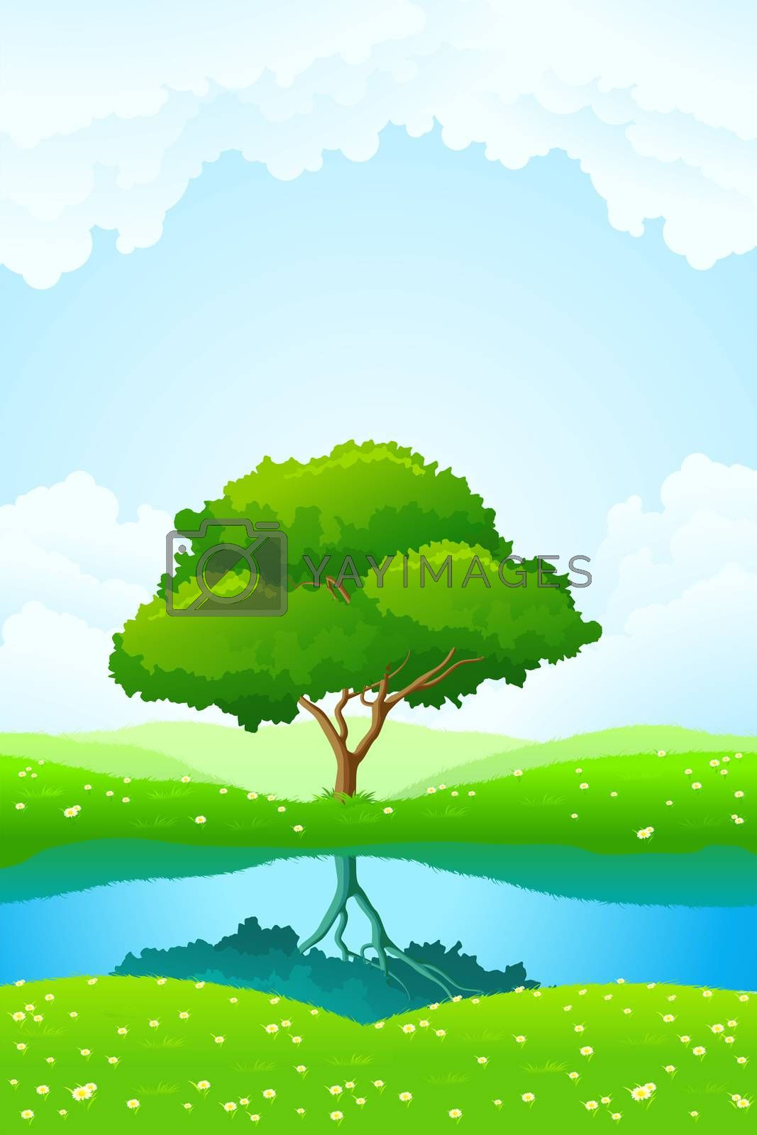 Green tree background by WaD