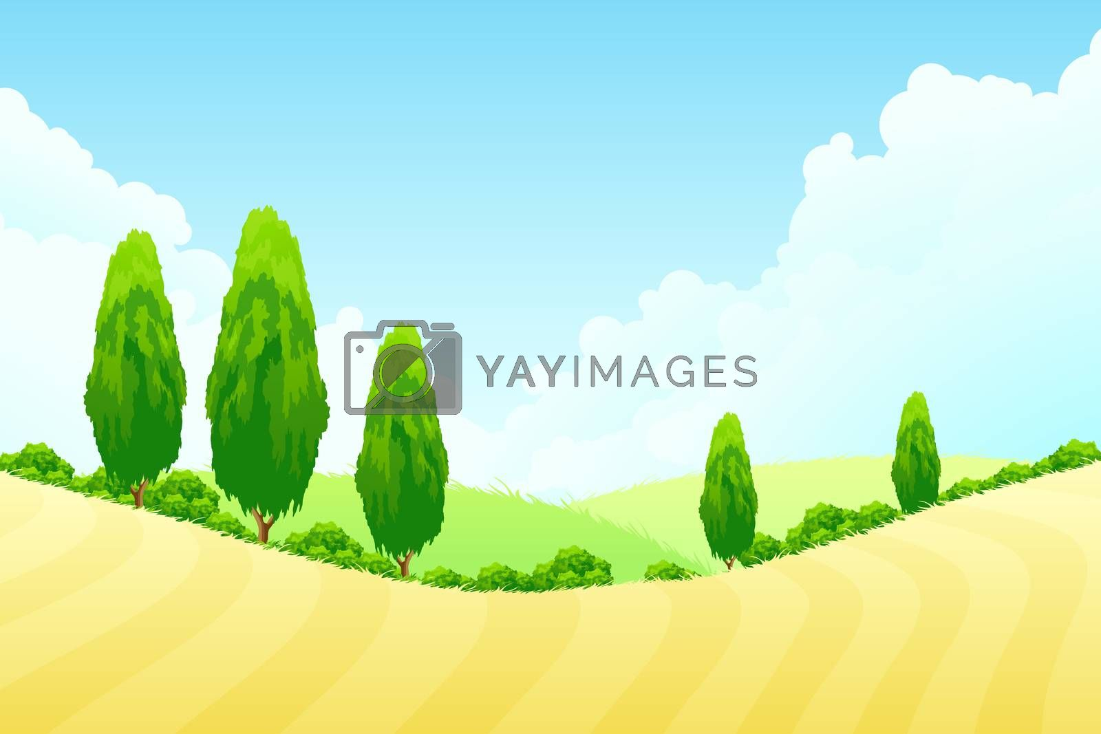 Landscape with Green trees by WaD