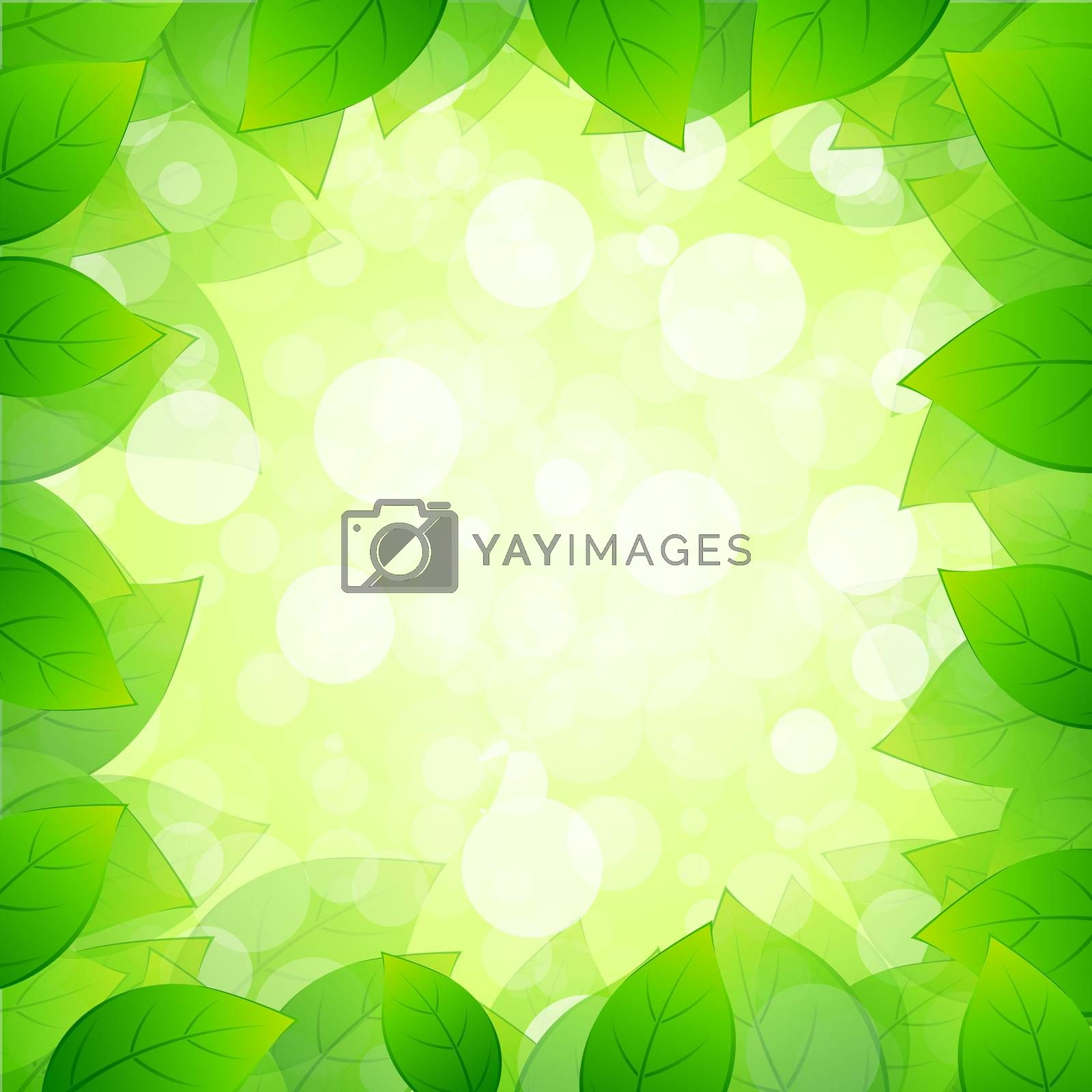 Green Framing with Leaves by WaD