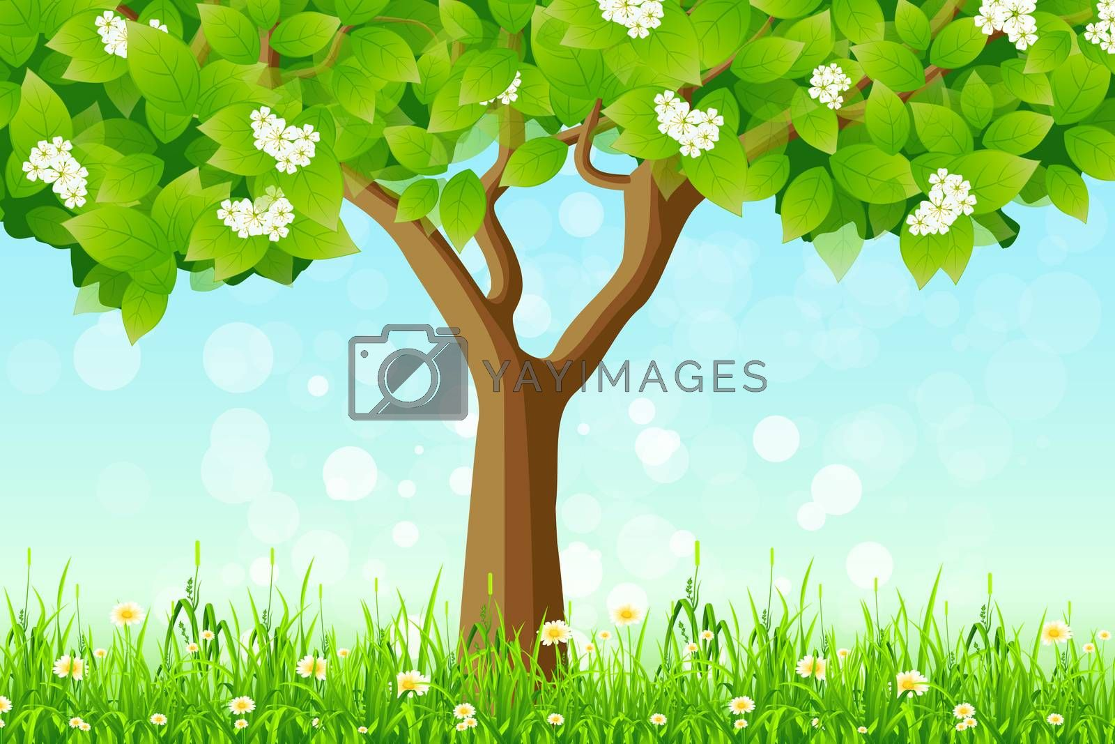 Green Tree in the Grass by WaD