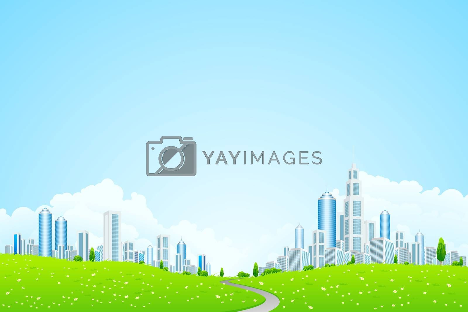 Landscape with Business City by WaD