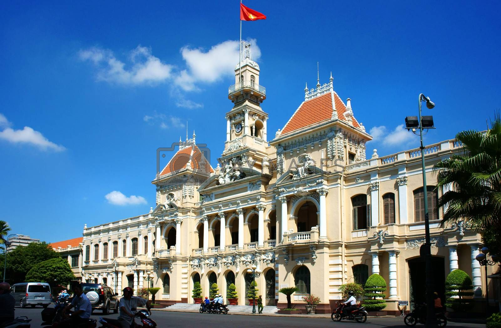 Abstract panaroma of people's Committee of Ho Chi Minh city by xuanhuongho