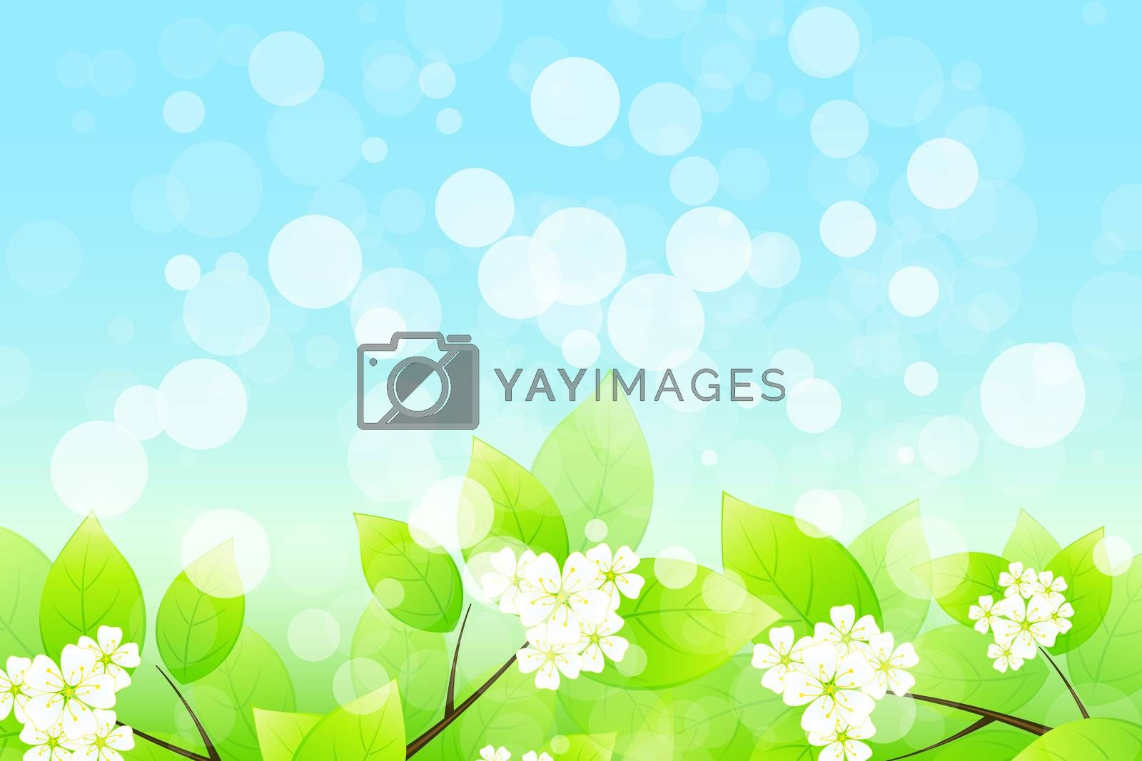 Background with Tree Branch by WaD