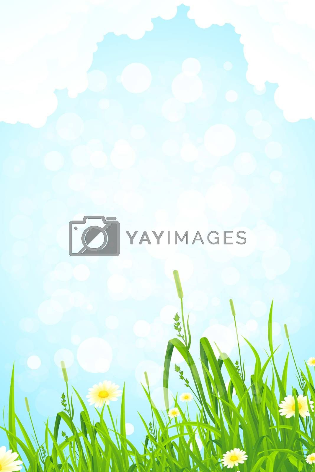 Background with Grass and Sky by WaD