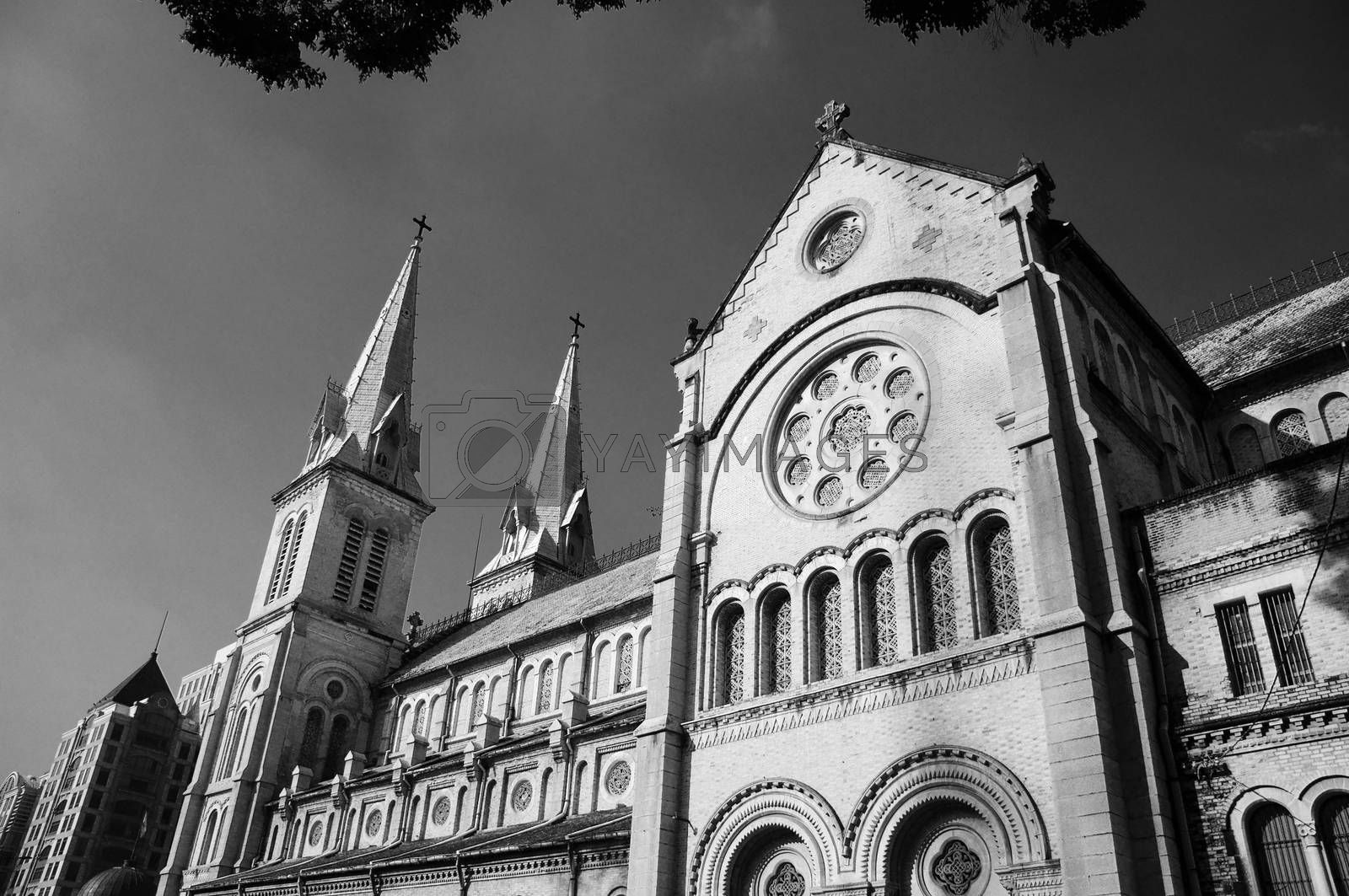 Abtract architecture of Duc Ba Cathedral by xuanhuongho