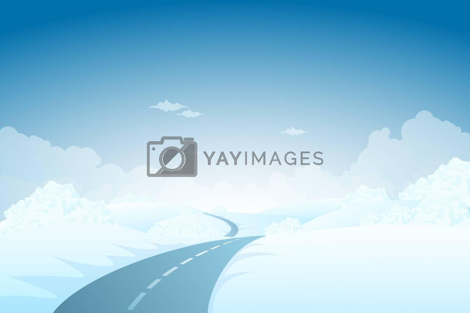 Blue Winter Landscape by WaD