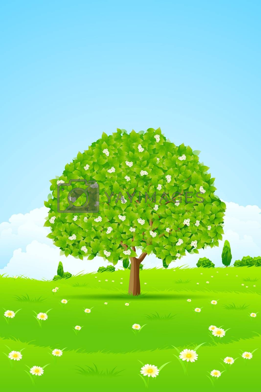 Tree Background by WaD