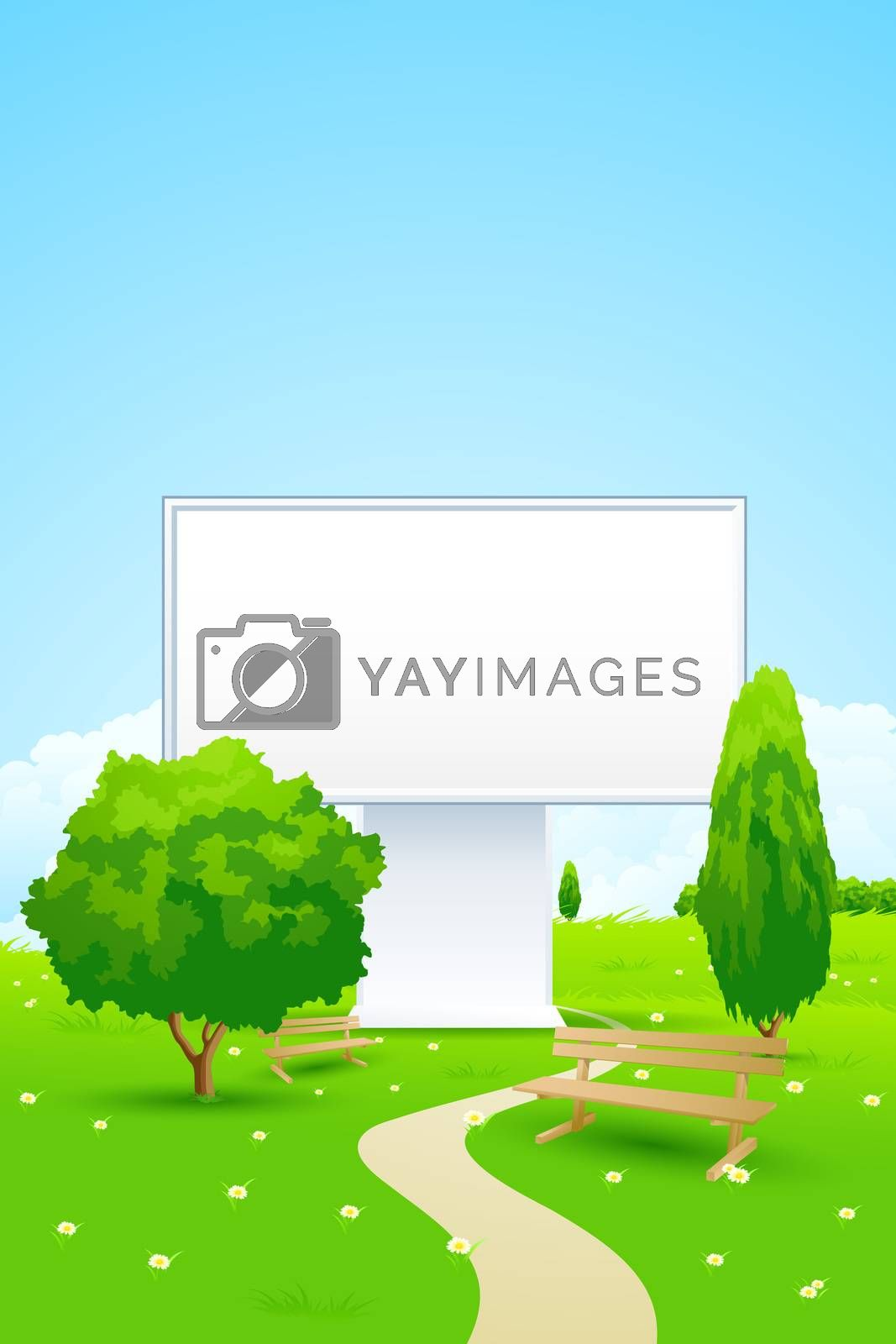 Empty Billboard in the Park by WaD