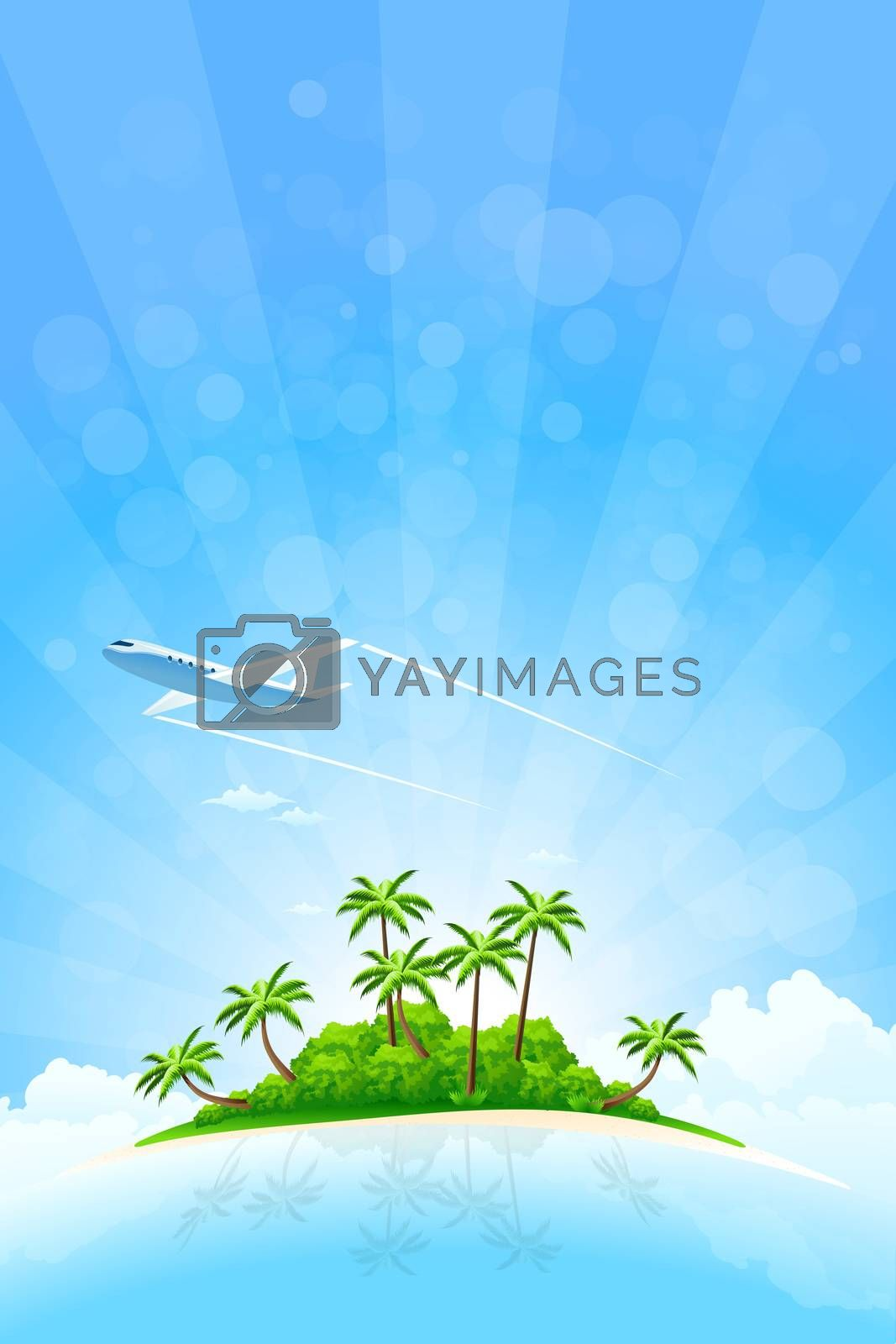 Tropical Island Background by WaD