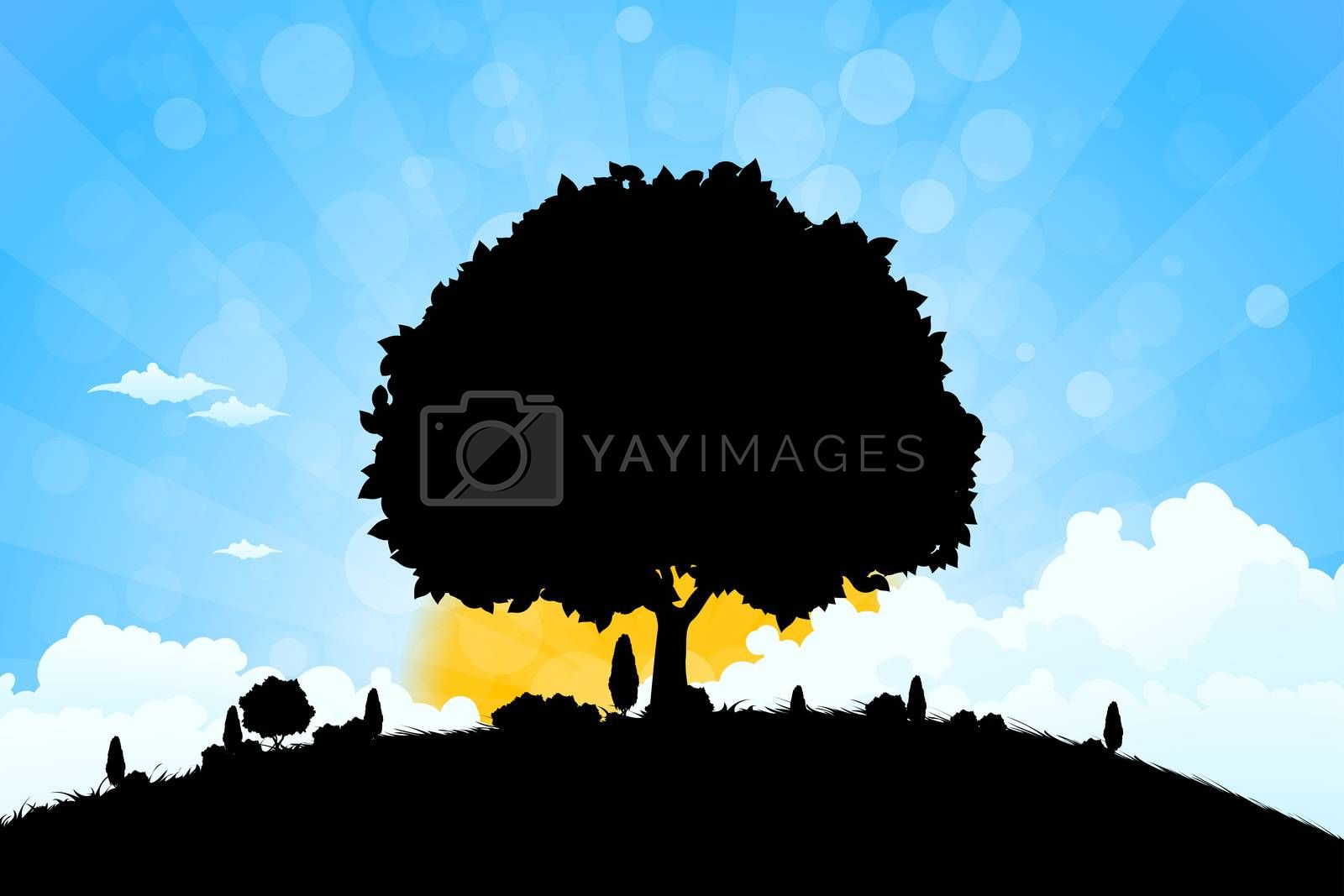 Landscape with Trees by WaD