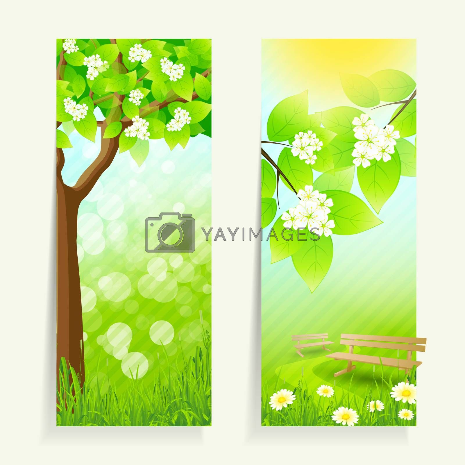 Two Vertical Banners by WaD