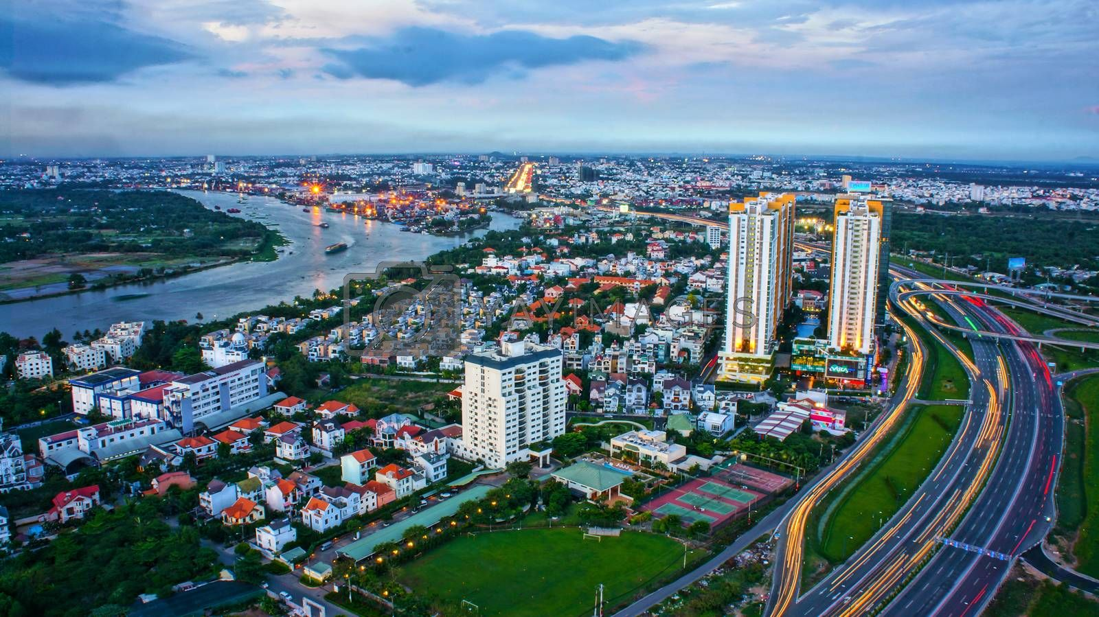 Impression panorama of Ho Chi Minh city by xuanhuongho