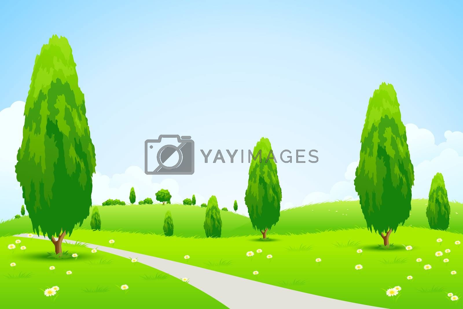 Green Landscape with  Trees by WaD