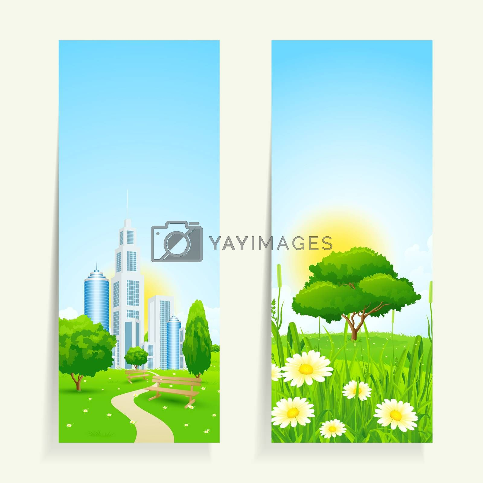 Two Vertical Banners with Nature by WaD