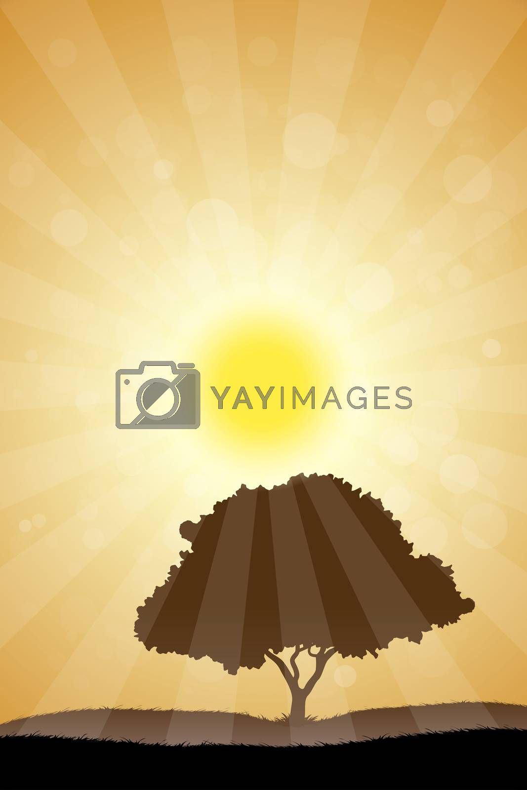 Landscape with Tree by WaD