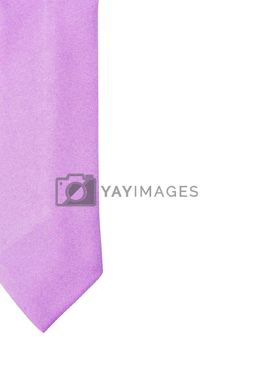 plain purple business neck tie isolated on white background