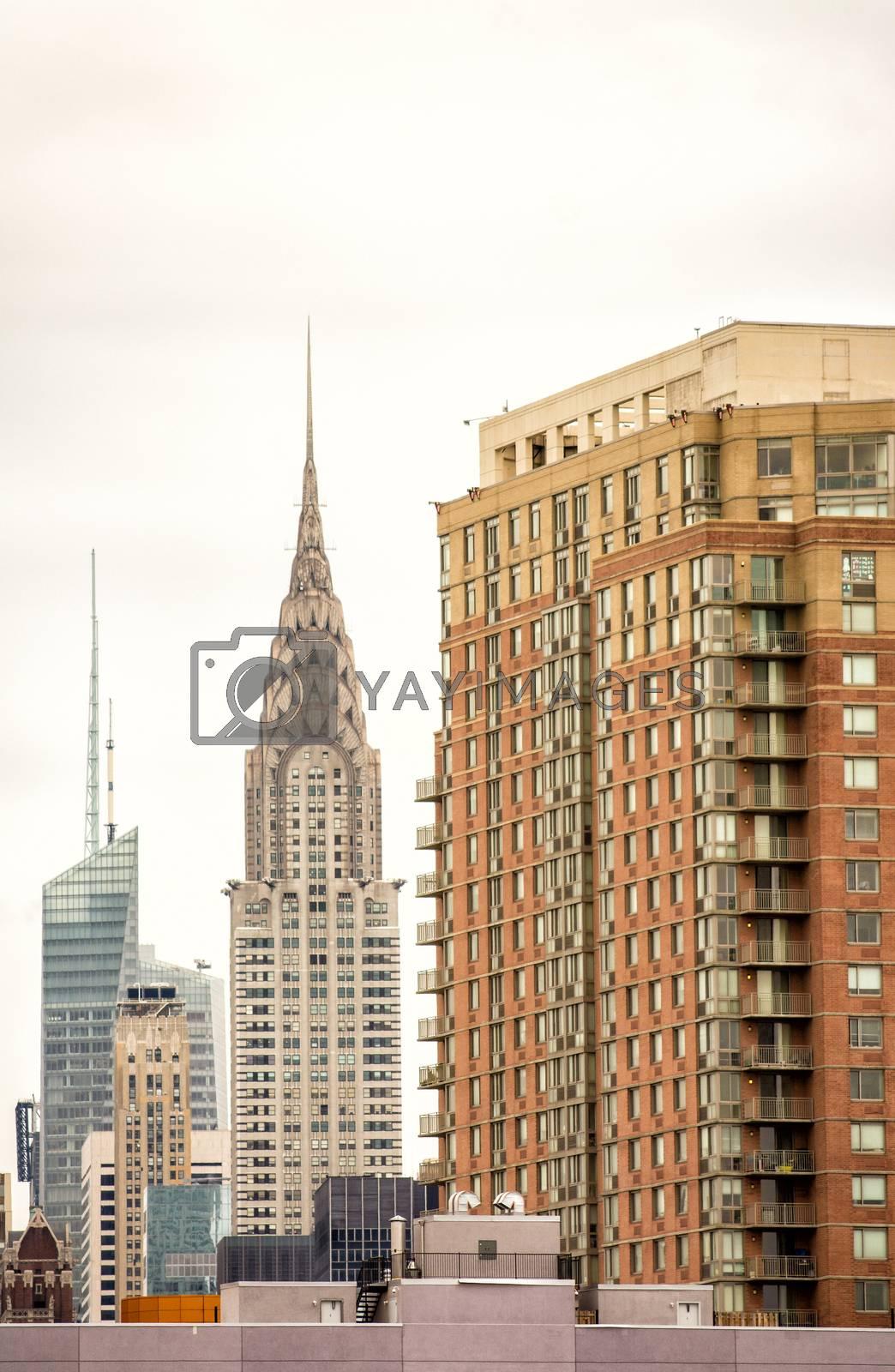 Buildings and skyscrapers of Manhattan.