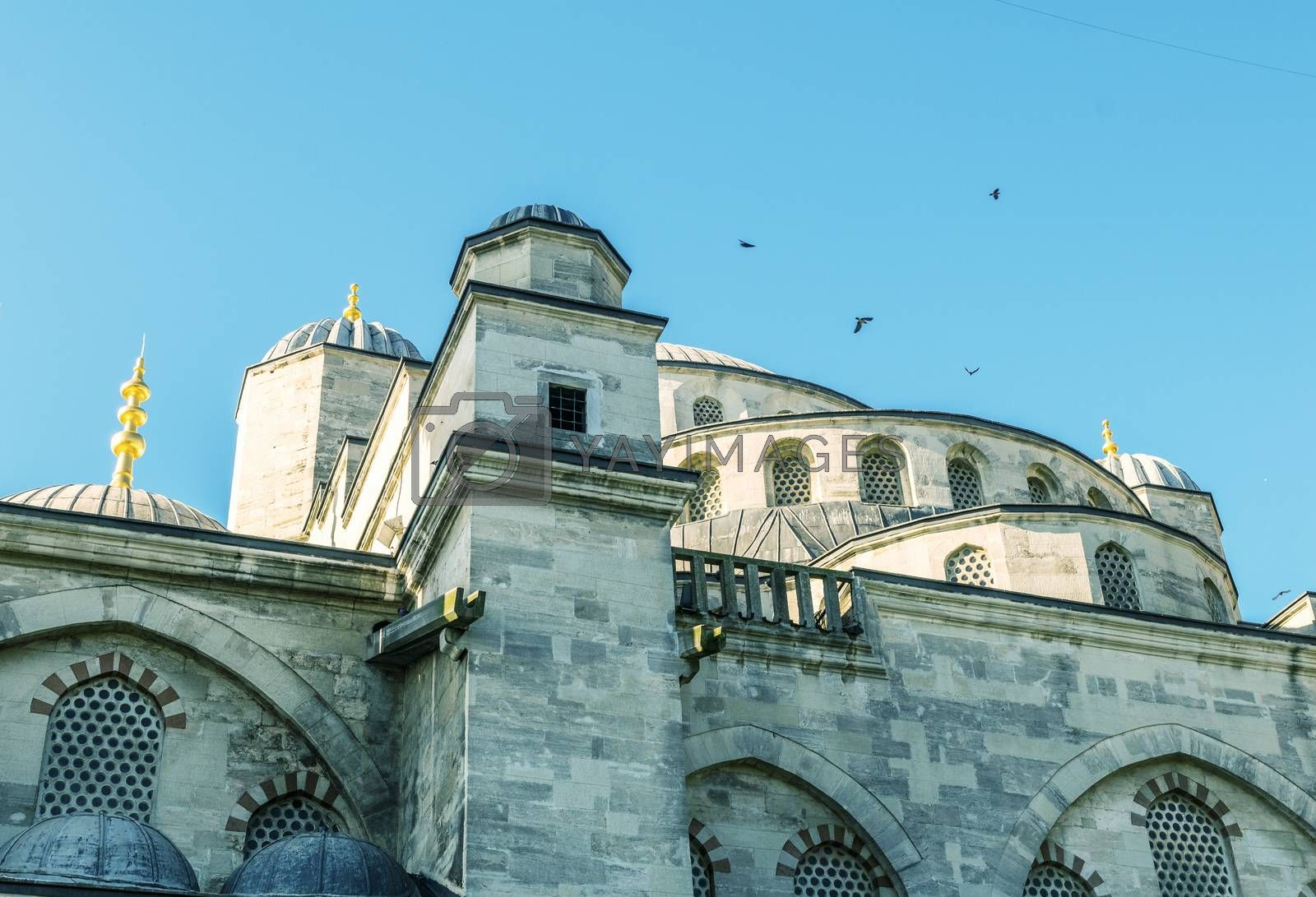 Istanbul. Blue Mosque exterior view.