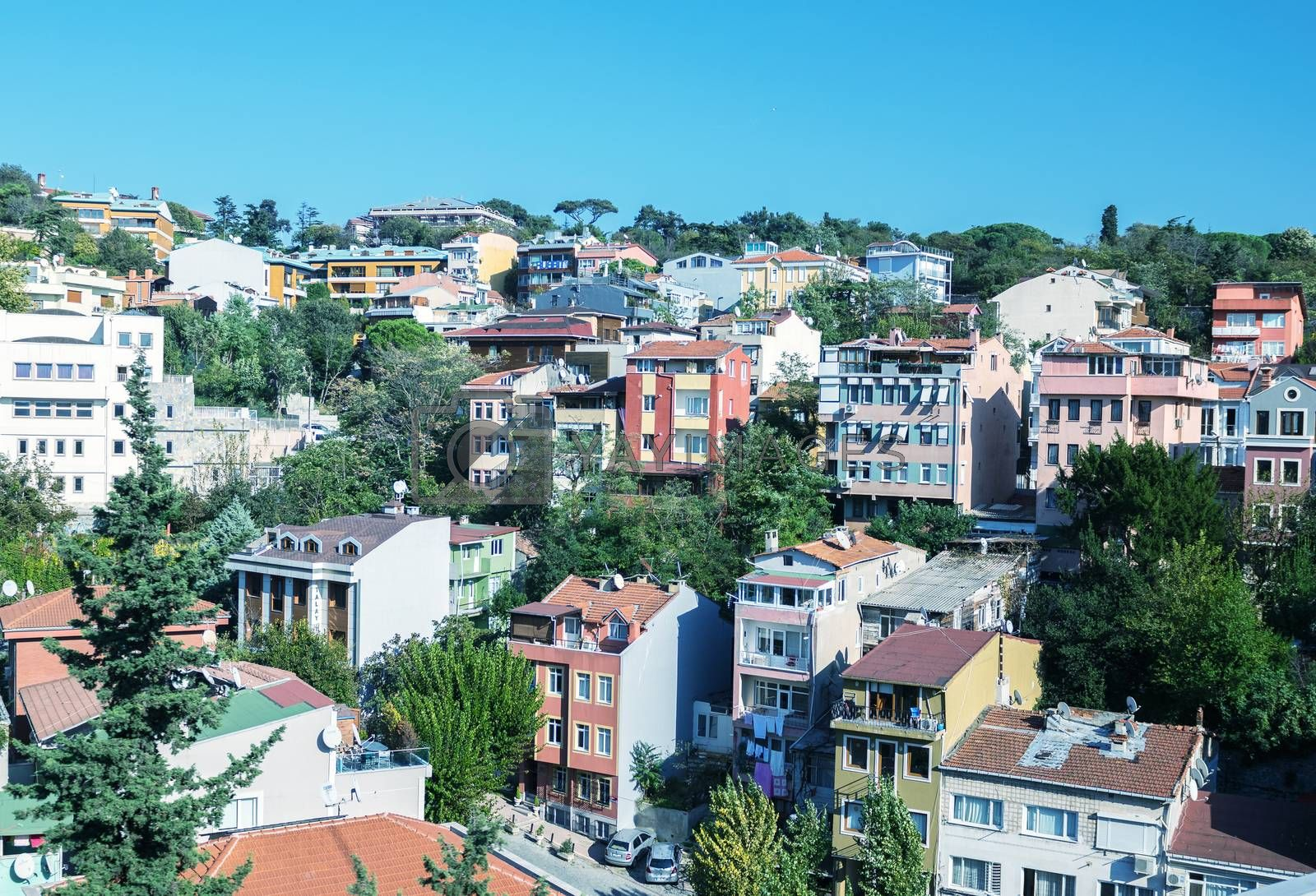 Homes and skyline of Istanbul.