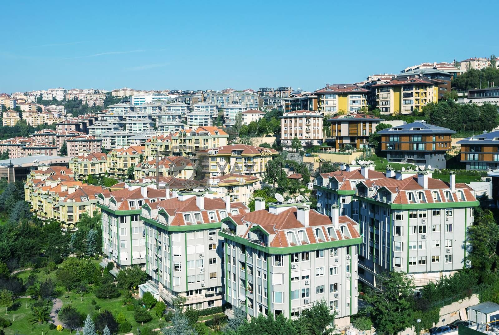 Buildings and skyline of Istanbul.