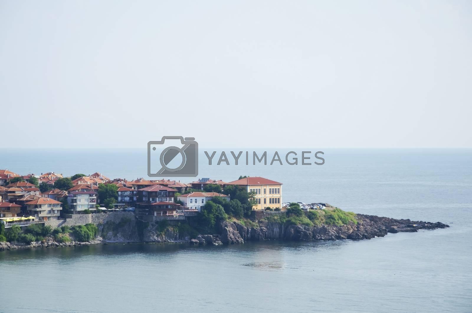Old Sozopol Town Over Sea, Bulgaria