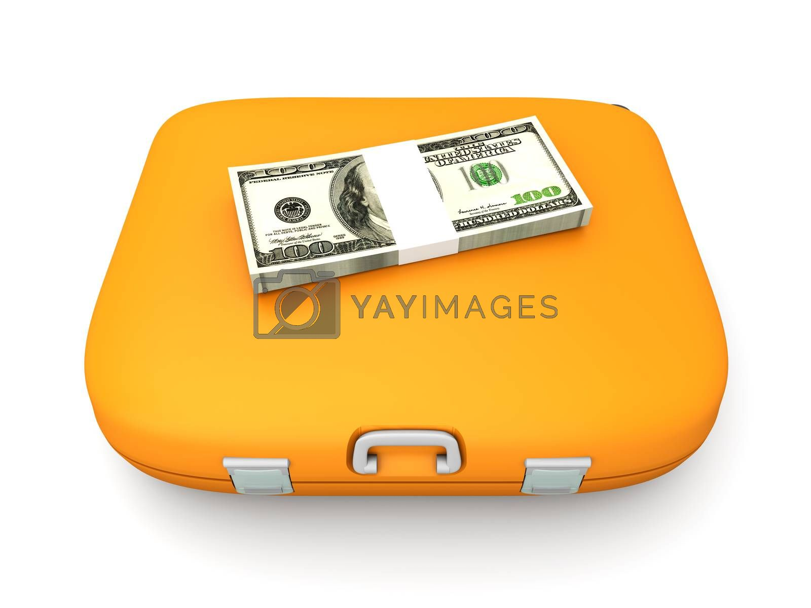 The price of travelling. 3D rendered Illustration. Isolated on white.
