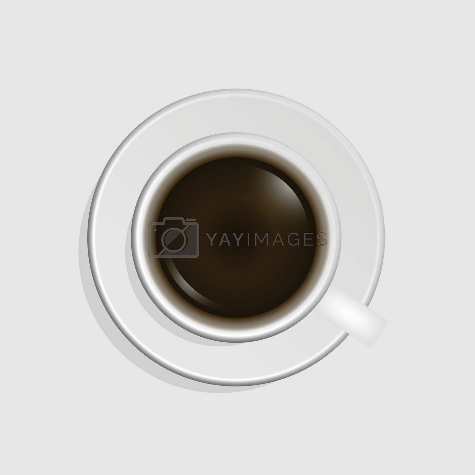 Top view of coffee cup, stock vector