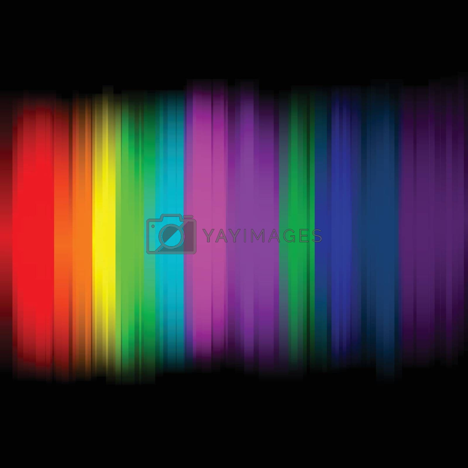Abstract lights with colorful background, stock vector