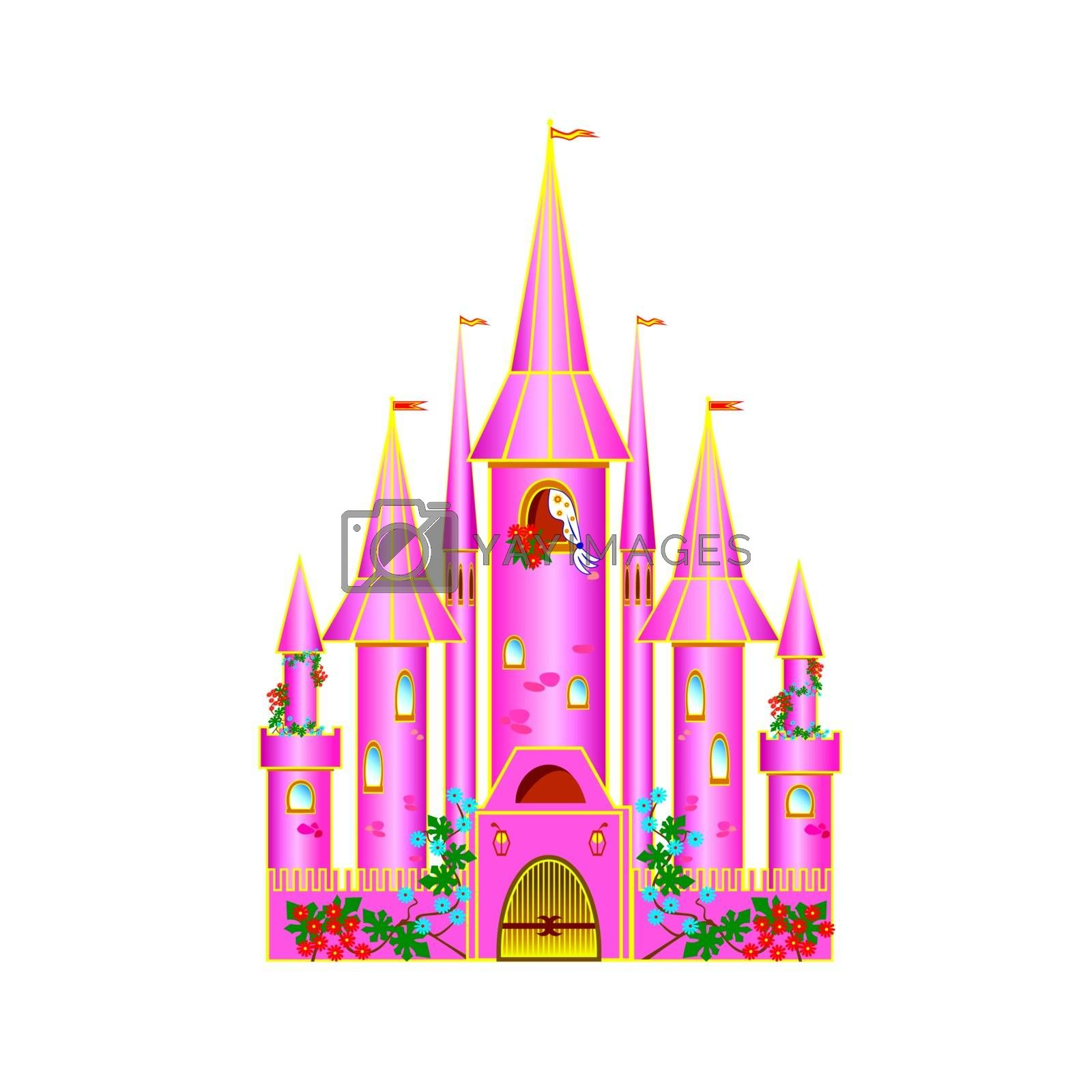Pink castle by liolle