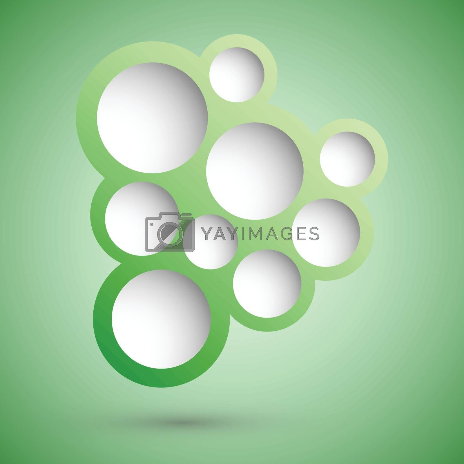 Abstract green speech bubble background, stock vector