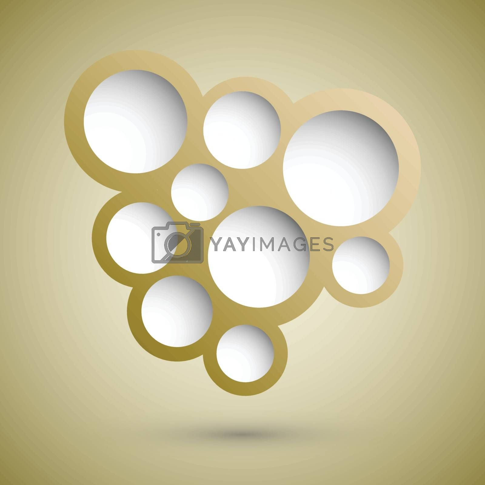 Abstract gold speech bubble background, stock vector