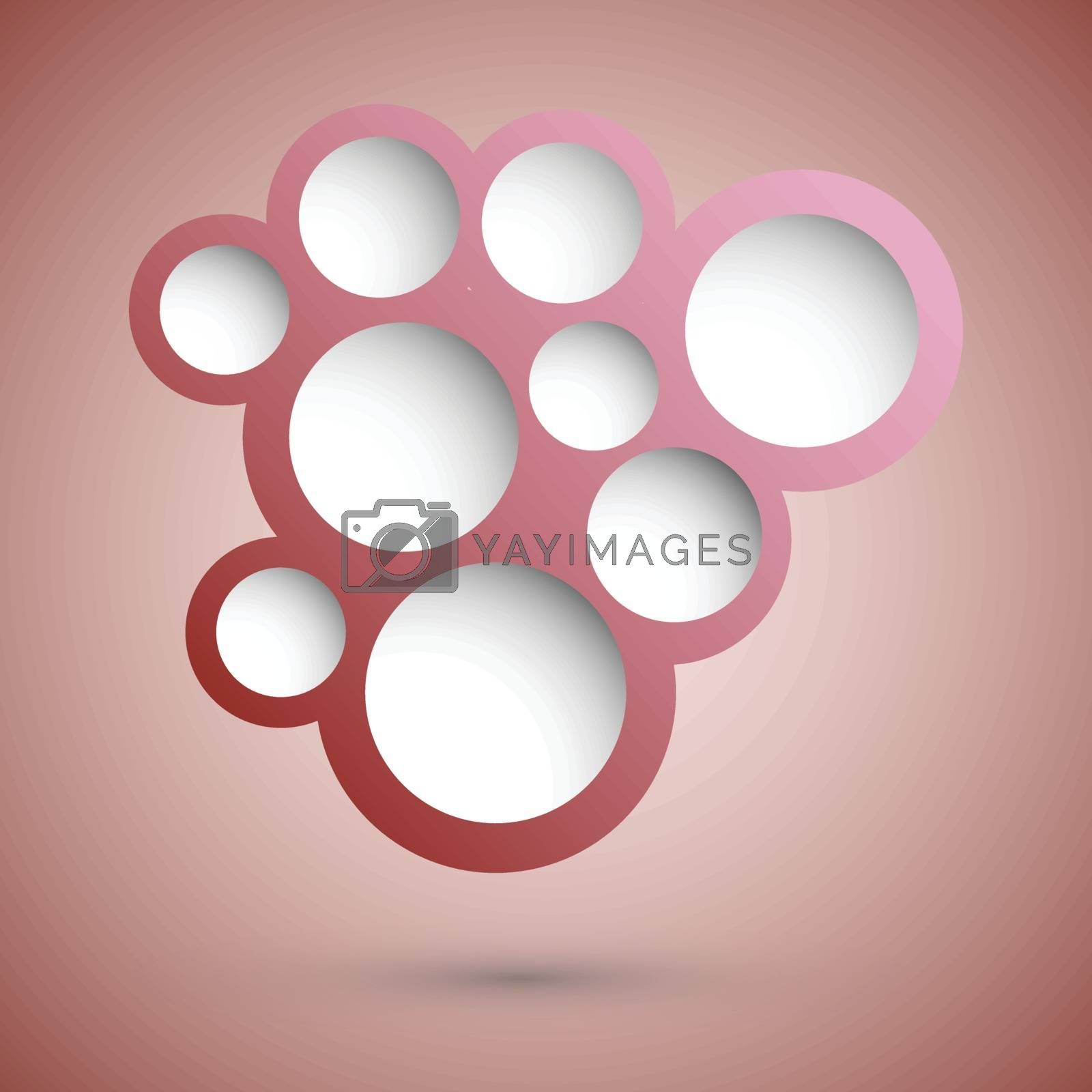 Abstract red speech bubble background, stock vector
