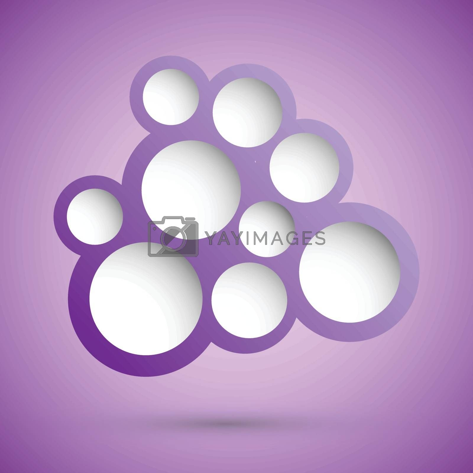 Abstract violet speech bubble background, stock vector