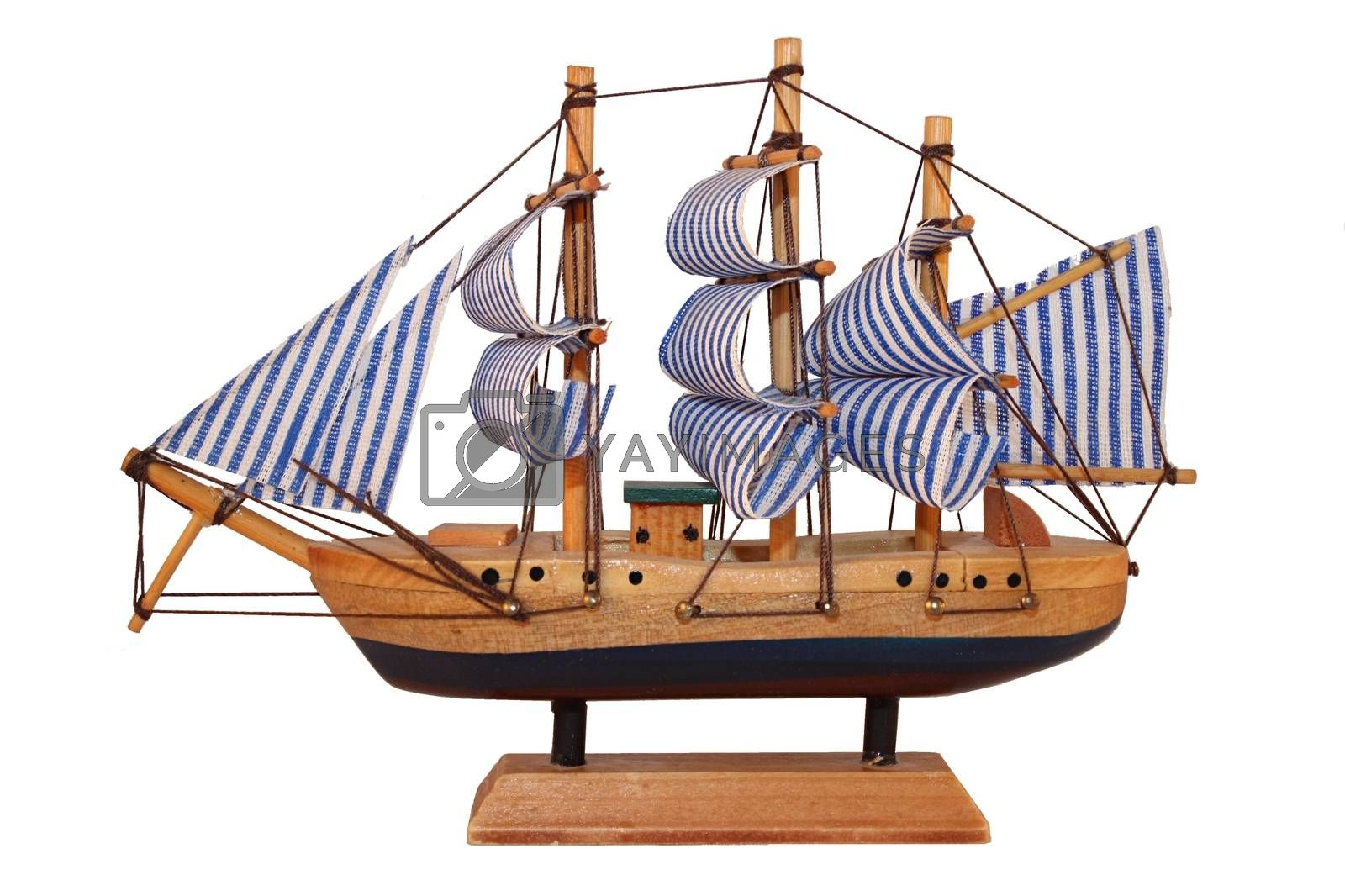 Wooden ship, toy model. by YaSher