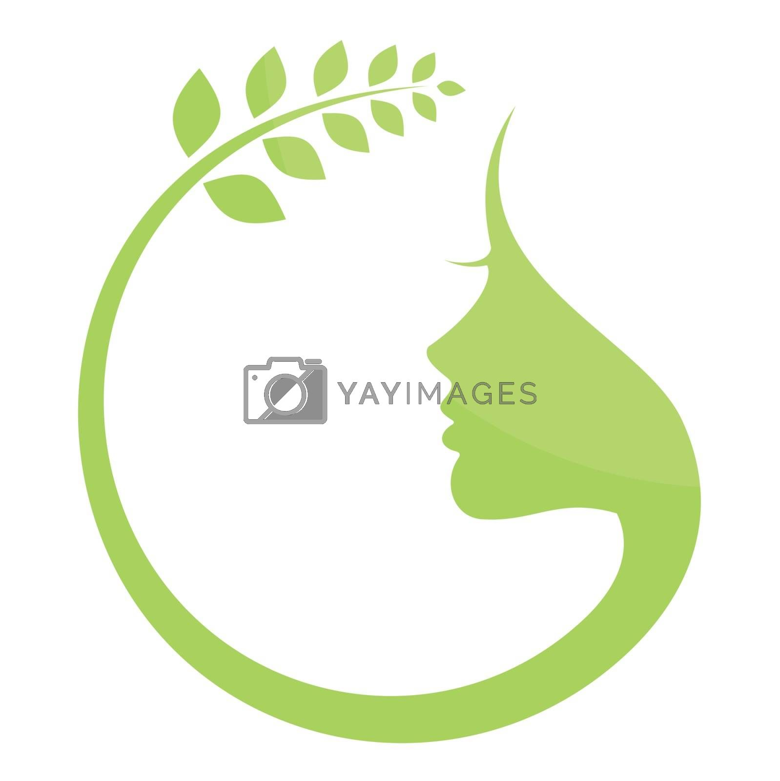 The round natural woman. A vector illustration