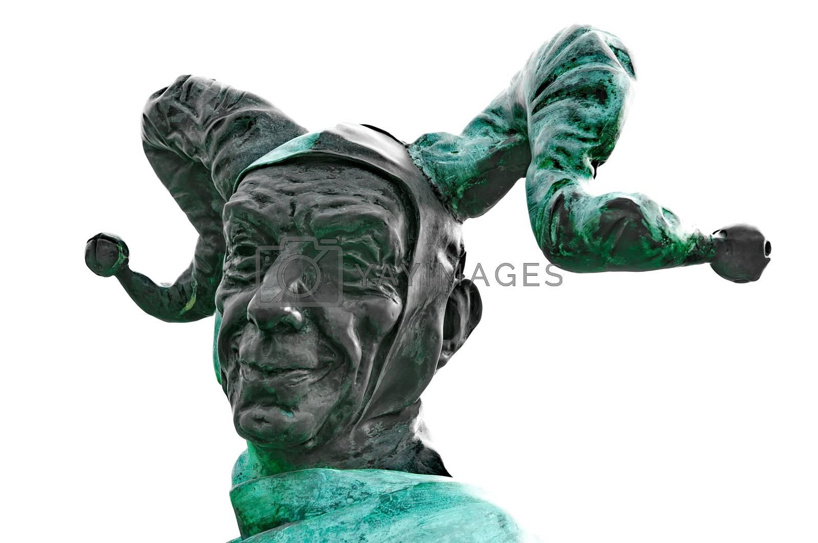 Statue of a clown