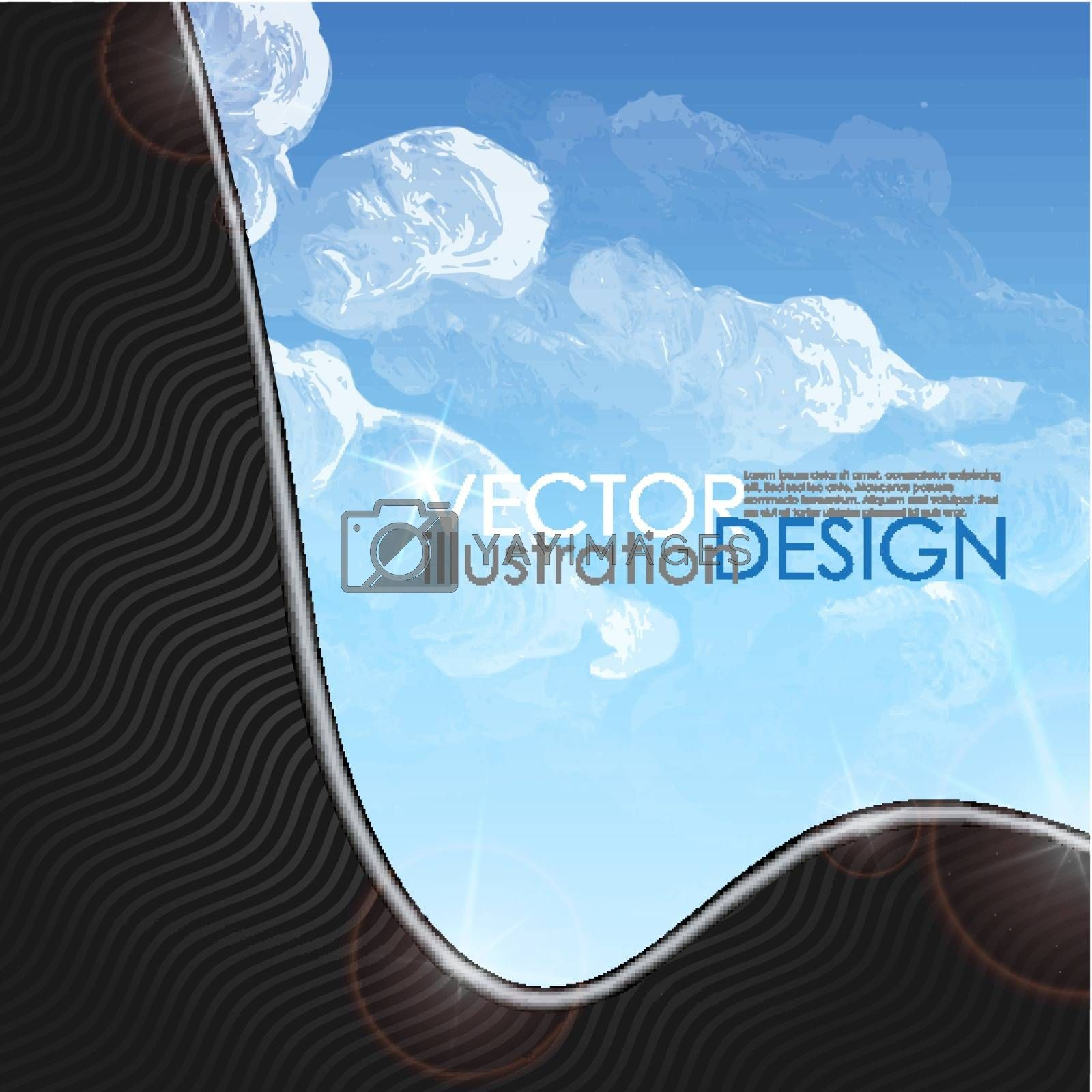 Cloud, Sky Painted Background. Vector Illustration. Eps 10