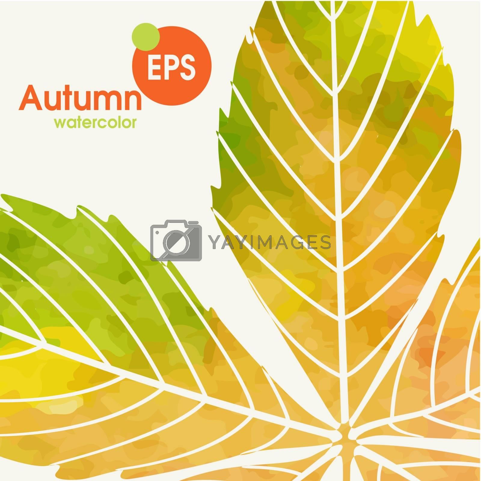 Simple Autumn Background.  Vector Illustration. Eps 10