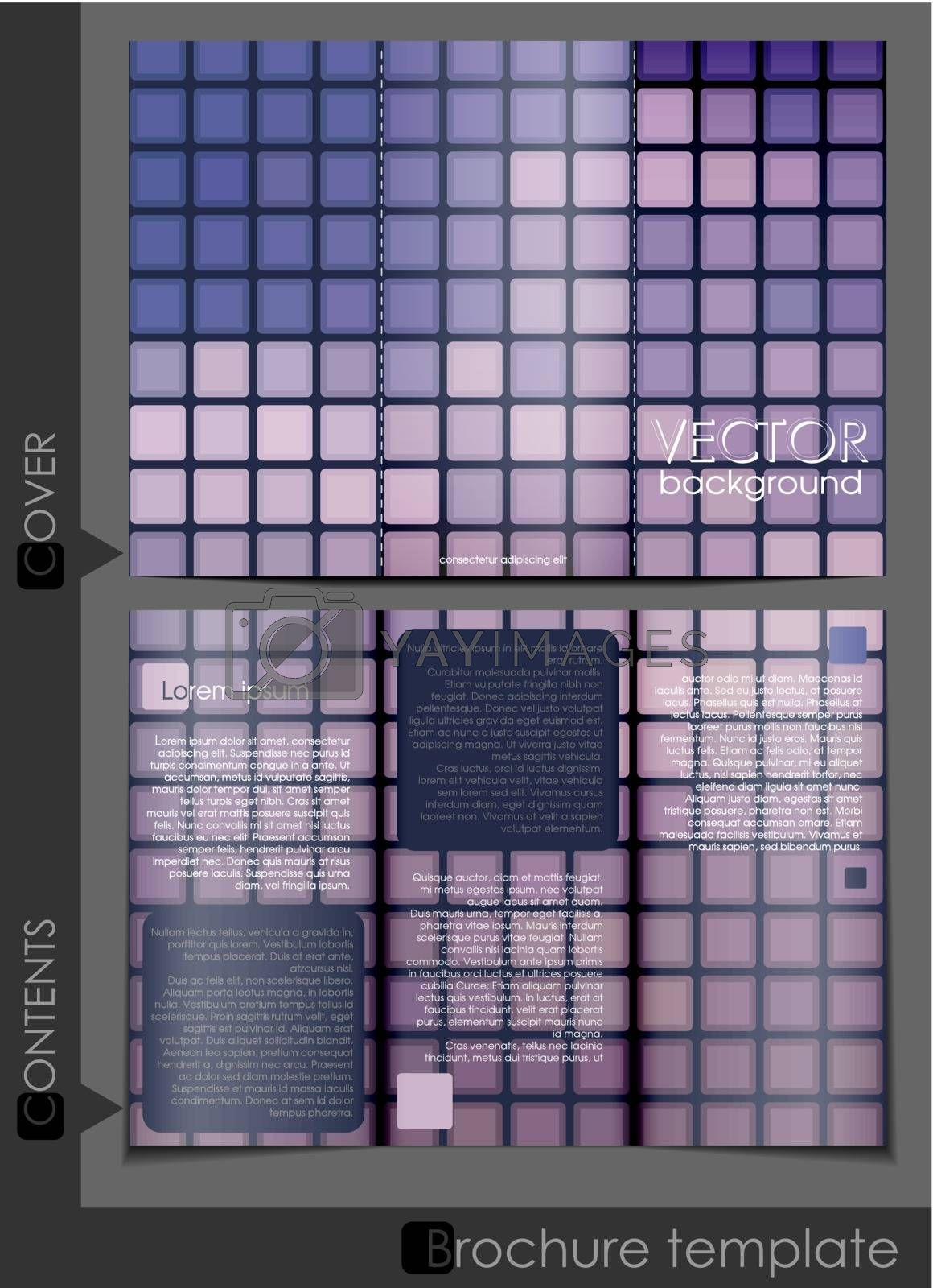 Brochure Template Design.  Vector Illustration. Eps 10