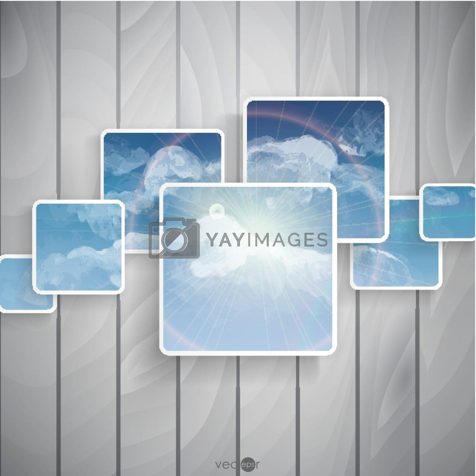 Abstract Squares Background. Vector Illustration. Eps 10.