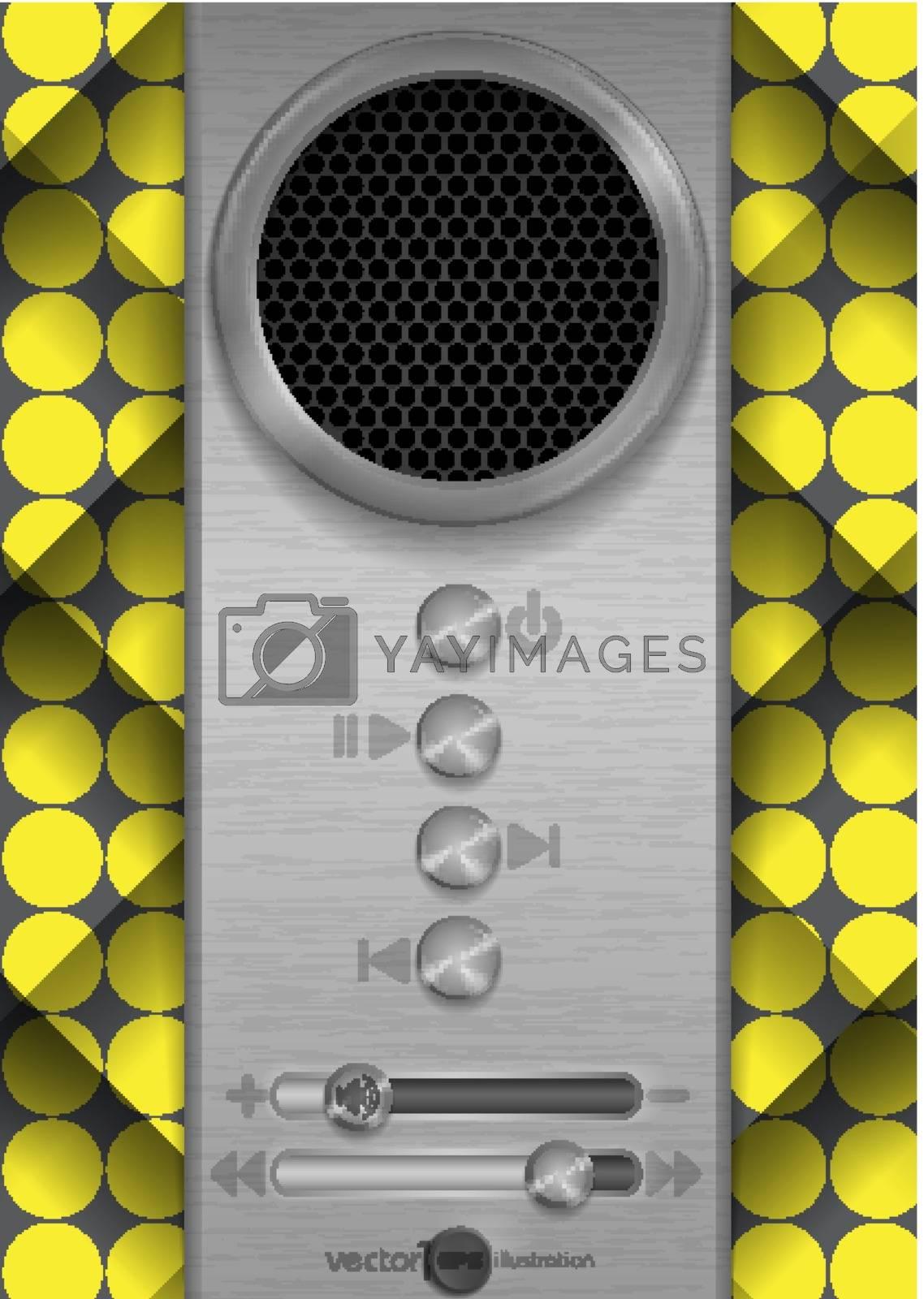 Abstract Speaker Concept Design. Vector Illustration. Eps 10.